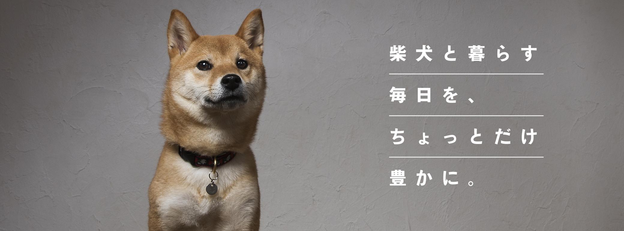 柴犬と暮らす毎日を、ちょっとだけ豊かに。