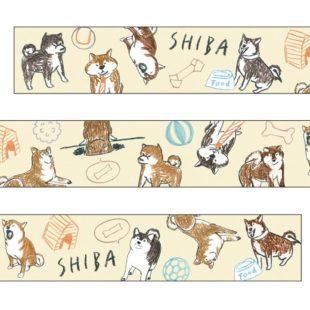 和紙マスキングテープ柴犬