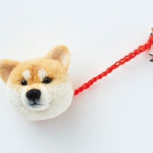 犬ぽんぽん:毛糸を巻いてつくる表情ゆたかな動物
