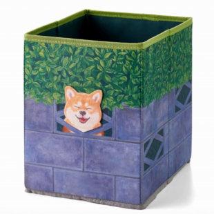 壁からひょっこり! 好奇心旺盛な 柴犬収納ボックスの会
