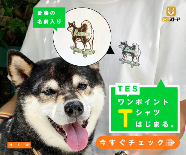 柴犬ライフ,ワンポイントTシャツ