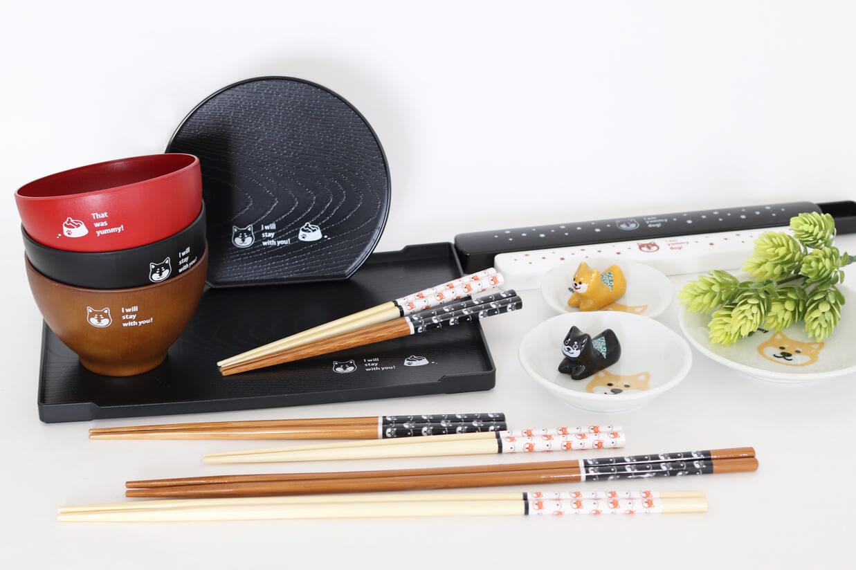 柴犬,食器,田中箸店