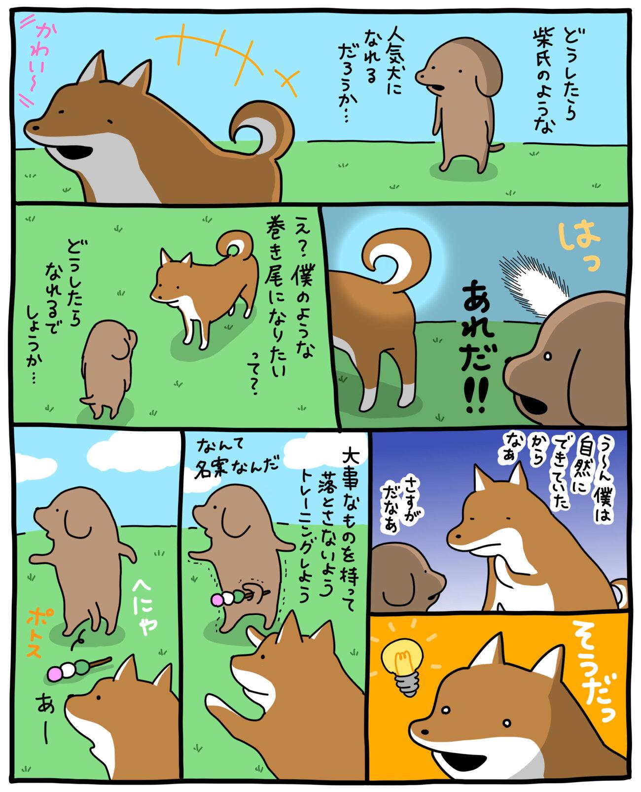 柴犬マンガ,小犬のこいぬ,うかうか