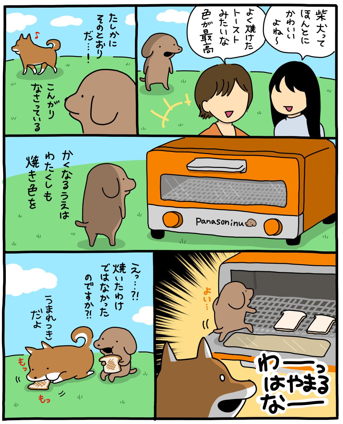 こいぬと柴犬,うかうか,漫画