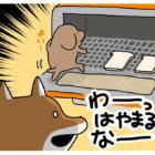 【マンガ連載】こいぬと柴犬#2「柴犬の焼き色」作:うかうか